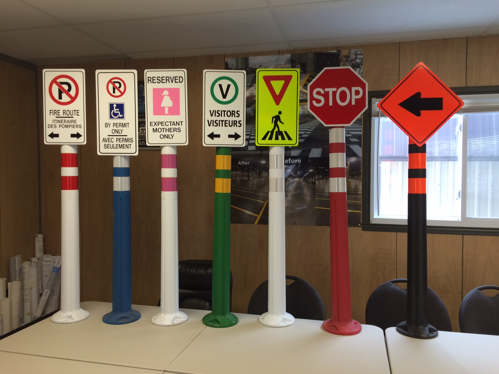 Deflex Post sign samples